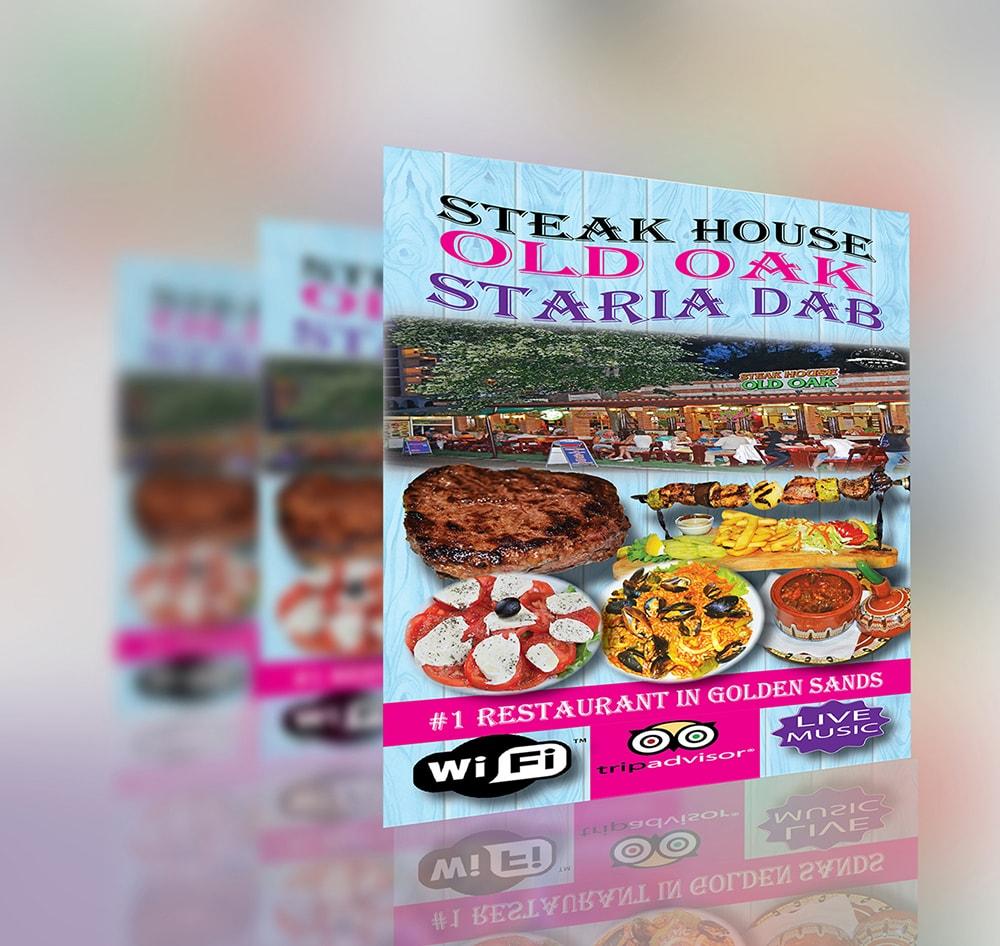 Steak House Old Oak flyer