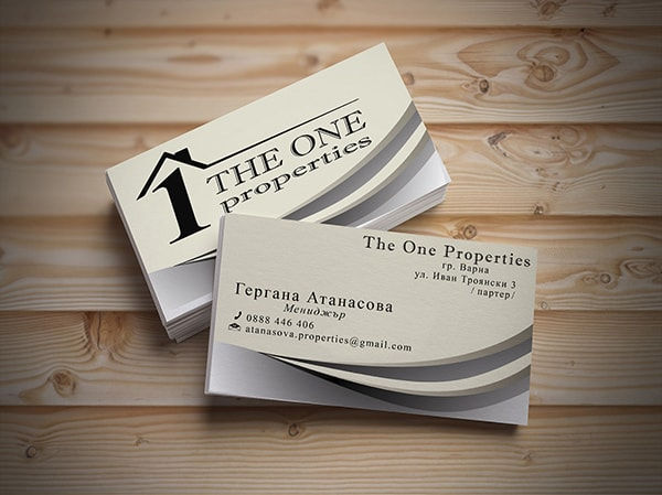 Property company business card