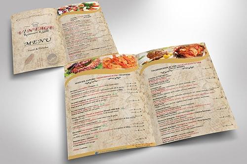 Restaurant Vintage menu design